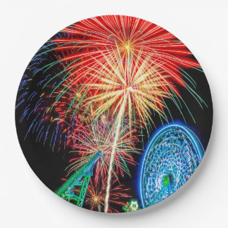 Fantastic Fireworks Paper Plates 9 Inch Paper Plate