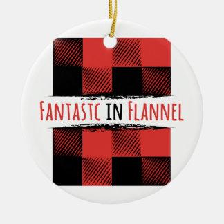 Fantastic Flannel Round Ceramic Decoration