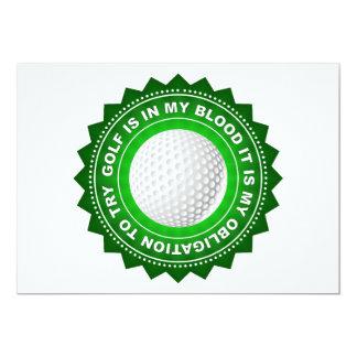 Fantastic Golf Shield 13 Cm X 18 Cm Invitation Card