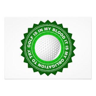Fantastic Golf Shield Custom Invite