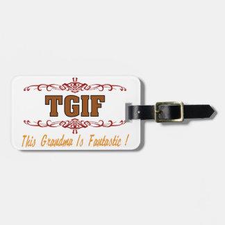 Fantastic Grandma Luggage Tag