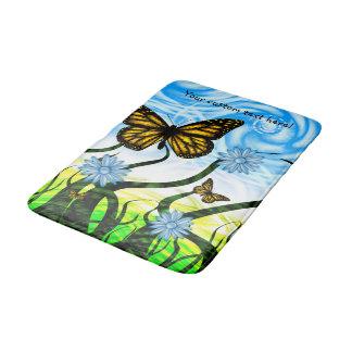 Fantastic Graphic Butterflies Flutter By Collage Bath Mats