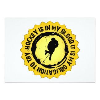 Fantastic Hockey Seal 13 Cm X 18 Cm Invitation Card