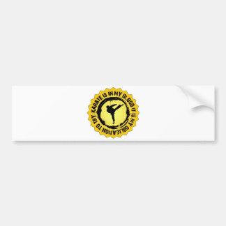 Fantastic Karate Seal Bumper Sticker