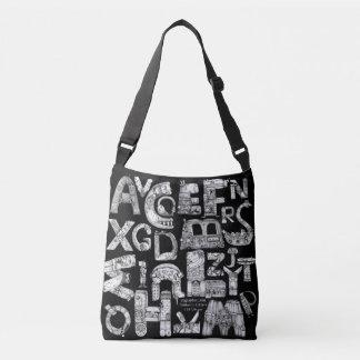 Fantastic Letters Black Crossbody Crossbody Bag