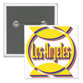 Fantastic Los Angeles 1 Botton 15 Cm Square Badge