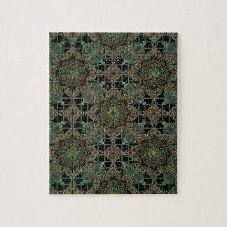 fantastic mandala design,green puzzles