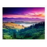 Fantastic Morning Mountain Landscape. Overcast