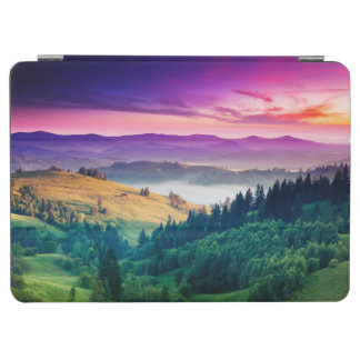 Fantastic Morning Mountain Landscape. Overcast iPad Air Cover