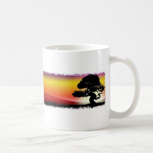 Fantastic multicolored landscape coffee mug