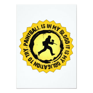 Fantastic Paintball Seal 13 Cm X 18 Cm Invitation Card