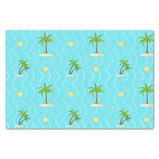 Fantastic palm trees wavy lines pattern tissue paper