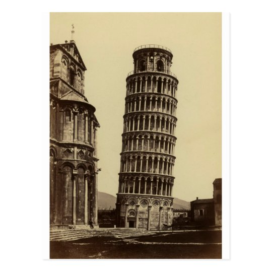 Fantastic photo of Pisa tower in 1860! Postcard