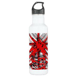 Fantastic Red Abstraction of lines 710 Ml Water Bottle