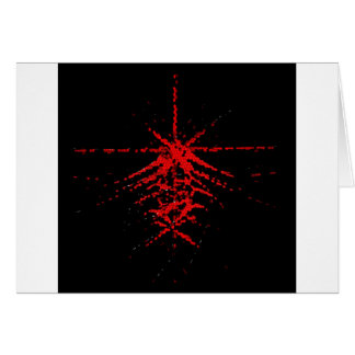 Fantastic Red Abstraction of lines Greeting Card