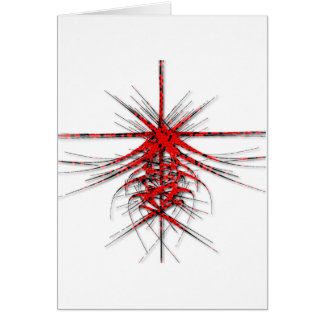 Fantastic Red Abstraction of lines with shone Greeting Card