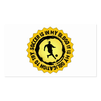 Fantastic Soccer Seal Pack Of Standard Business Cards
