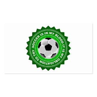 Fantastic Soccer Shield Pack Of Standard Business Cards