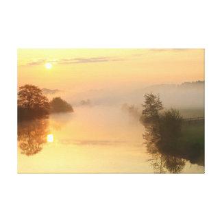 Fantastic sunrise canvas print