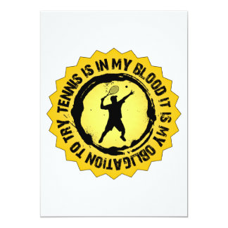 Fantastic Tennis Seal (Male) 13 Cm X 18 Cm Invitation Card