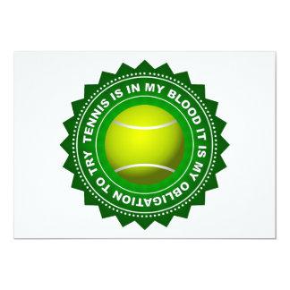 Fantastic Tennis Shield 1 13 Cm X 18 Cm Invitation Card