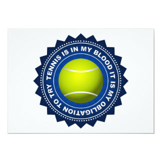 Fantastic Tennis Shield 2 13 Cm X 18 Cm Invitation Card