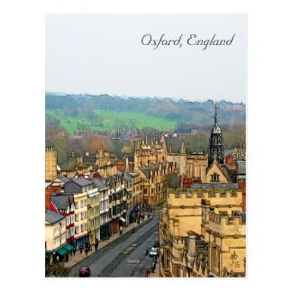 Fantastic View, Oxford, England, High Street #2 Postcard