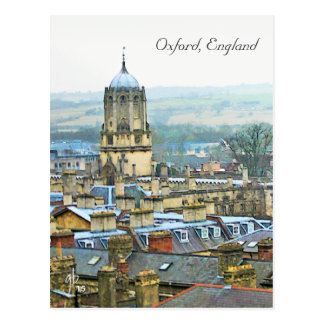 Fantastic View, Oxford, England, Roof Top #2 Postcard