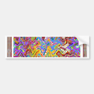 Fantastic Waves Colorful Abstract Art Bumper Sticker