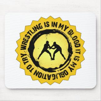 Fantastic Wrestling Seal Mouse Pad