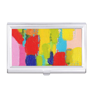 Fantastical Abstract Painting by Kris Taylor Business Card Holder