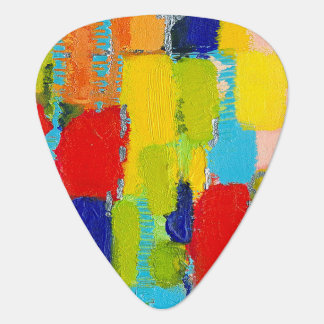 Fantastical Abstract Painting by Kris Taylor Guitar Pick