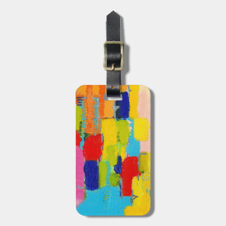 Fantastical Abstract Painting by Kris Taylor Luggage Tag