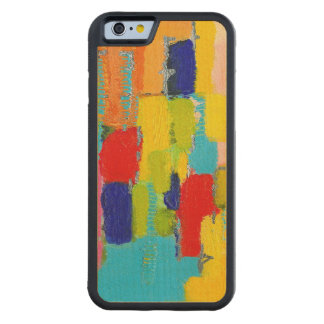 Fantastical Abstract Painting by Kris Taylor Maple iPhone 6 Bumper
