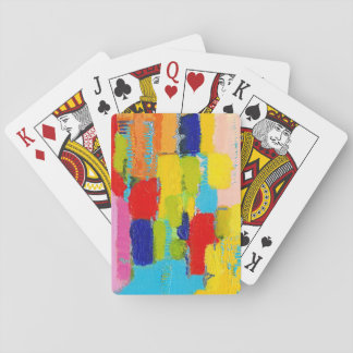 Fantastical Abstract Painting by Kris Taylor Poker Cards