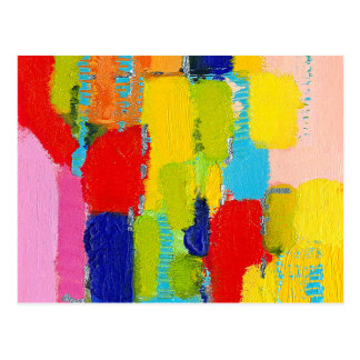 Fantastical Abstract Painting by Kris Taylor Postcard