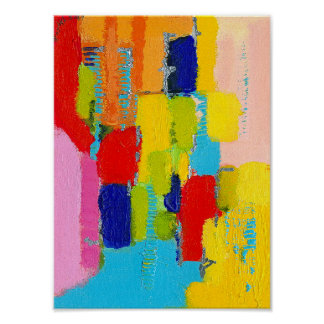 Fantastical Abstract Painting by Kris Taylor Poster