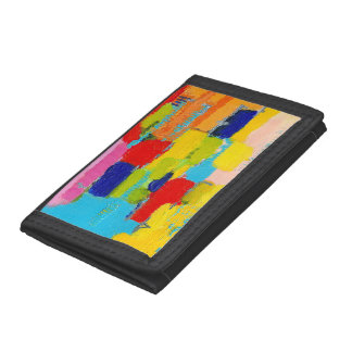 Fantastical Abstract Painting by Kris Taylor Trifold Wallets