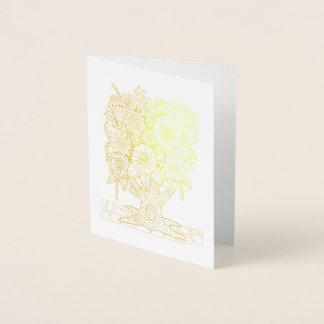 Fantastical Forest Flower Tree Foil Card