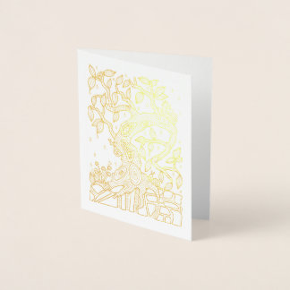 Fantastical Forest Rainy Tree Foil Card