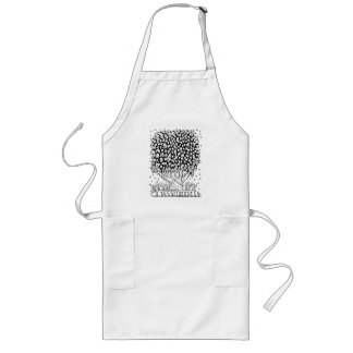 Fantastical Forest Tree Coloring Long Apron