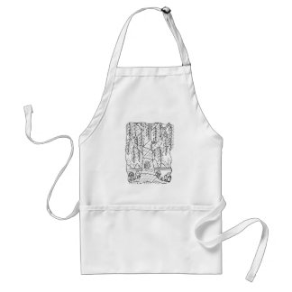 Fantastical Forest Trees Coloring Standard Apron