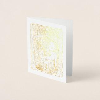 Fantastical Forest Unicorn Foil Card