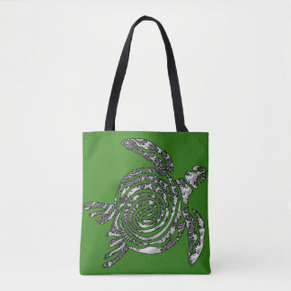 Fantasy 3 D Turtle Tote Bag