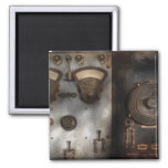 Fantasy - A tribute to Steampunk Square Magnet