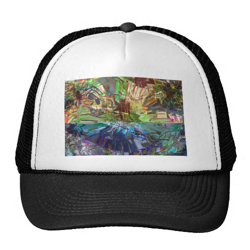 Fantasy Abstract Pure Digital Graphic Obsession Hats