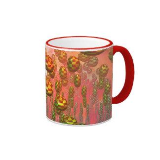 Fantasy alien garden ringer mug