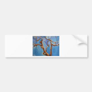 Fantasy almond blossom tree bumper sticker