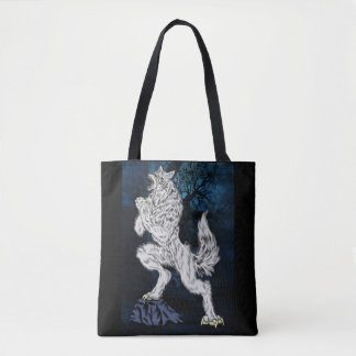 Fantasy Animal Werewolf Tote Bag