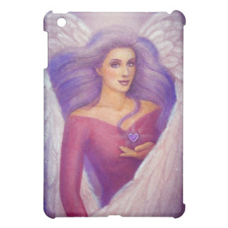 Fantasy Art Amethyst Crystal Heart Angel iPad case